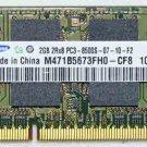 TOSHIBA L505 L505D 2GB DDR3 RAM MEMORY PC3-8500S SAMSUNG M471B5673FH0 P000527780