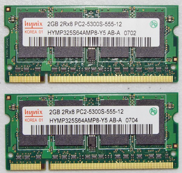 "OEM MAC APPLE MACBOOK PRO 13"" 15"" 17"" 4GB (2x2GB) RAM PC2-5300S HYMP325S64AMP8"