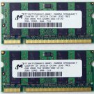 GENUINE OEM HP PAVILION DV4 DV4T 4GB (2X2GB) RAM PC2-6400S-666-12 MT16HTF25664HY