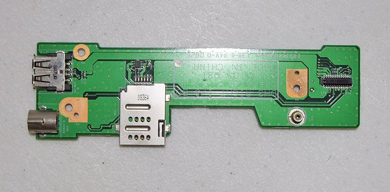 GENUINE OEM DELL XPS M1530 DH3 RIGHT I/O S-VIDEO USB SIM CARD BOARD 48.4W105.021