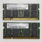 SONY VAIO VGN SZ740 SZ SERIES 2GB (2X1GB) PC2-5300S RAM MEMORY HYS64T128021EDL