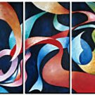 Abstract Oil on Canvas Gymnast's Ribbons  Oil Painting on Canvas  (22242021445)