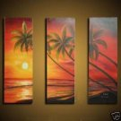 Golden Palms Oil Painting on Canvas  (g66072727ttps)