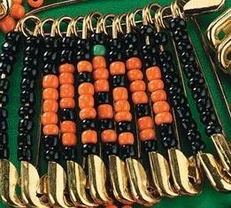 Beaded Pumpkin Pin