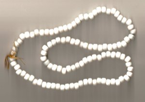 Crow Beads Glass Opaque White Strand of 100 9x6 mm