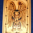 Native American Woodburning Art Native Angel 6.5x9""