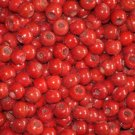 9mm Round Glass Crow Beads  BRIGHT RED 4 oz pkt 150 ct
