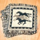 "Coasters Set of 6 Jacquard Cotton  6x6"" Running Horses"
