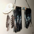 Indian Fancy Dance Stick Coyote Skull Native American