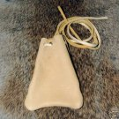 "Leather Medicine Bag Lg 3x4"" Deerskin  32"" cord Replica"