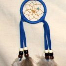 "Native American Indian Navajo Dreamcatcher 2"" hoop Blue #270"