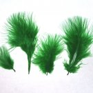 "100 + Small KELLY GREEN 1-3"" Marabou Fluff Feathers 1/4 oz"