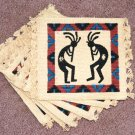 Coasters Set of 6 Dancing Kokopelli Southwest theme #1