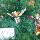 3 Hummingbird Christmas Ornaments Hand Beaded Fair Trade #52