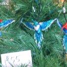 3 Hummingbird Christmas Ornaments Hand Beaded Fair Trade #55