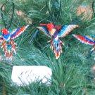 3 Hummingbird Christmas Ornaments Hand Beaded Fair Trade #56