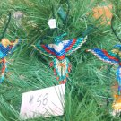 3 Hummingbird Christmas Ornaments Hand Beaded Fair Trade #58