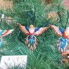 3 Hummingbird Christmas Ornaments Hand Beaded Fair Trade #59