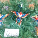 3 Hummingbird Christmas Ornaments Hand Beaded Fair Trade #61