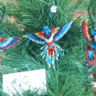 3 Hummingbird Christmas Ornaments Hand Beaded Fair Trade #62