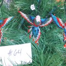 3 Hummingbird Christmas Ornaments Hand Beaded Fair Trade #64