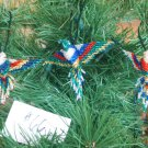 3 Hummingbird Christmas Ornaments Hand Beaded Fair Trade #66