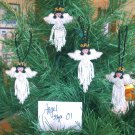 4 Christmas Ornaments Heavenly Angels Hand Beaded Fair Trade style #1
