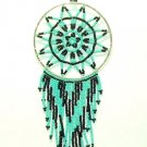 "Beaded Dreamcatcher Christmas or Car Ornament Handmade 2.5x6.5"" D24"