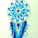 "Beaded Dreamcatcher Christmas or Car Ornament Handmade 2.5x6.5"" D22"