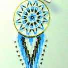 "Beaded Dreamcatcher Christmas or Car Ornament Handmade 2.5x6.5"" D9"