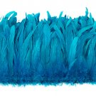 "1/4 lb Turquoise Blue Rooster Coque Tail Feathers 6-8"" L Bleached & dyed"