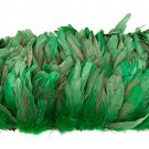 "1/4 lb Kelly Green Rooster Coque Tail Feathers 6-8"" L Bleached & dyed"