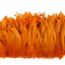 "1/4 lb Orange Rooster Coque Tail Feathers 6-8"" L Bleached & dyed"