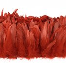 "1/4 lb Red Rooster Coque Tail Feathers 6-8"" L Bleached & dyed"