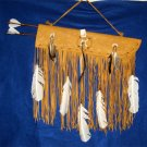 "Flat 21"" Leather Quiver w/ Horsehair Two 30""Arrows Native American Navajo #37"