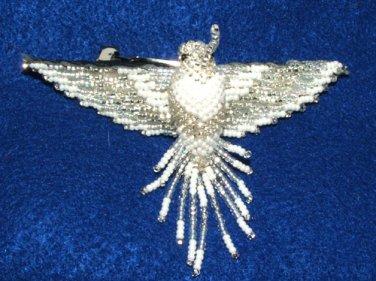 "4"" Hummingbird Barrette Beaded French Clip closure Fair trade beadwork #18"