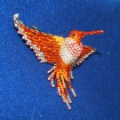 "4"" Hummingbird Barrette Beaded French Clip closure Fair trade beadwork #21"
