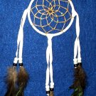 "Dreamcatcher Native American Navajo Indian  4"" dia hoop White  #310"