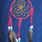 "Dreamcatcher Native American Navajo Indian  4"" dia hoop Fushia #303"