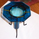 FUSED GLASS CANDLE OR FLOWER HOLDER