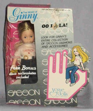 1981 Vogue 8 Inch Ginny OO La La Doll with Bonus Skates NIB