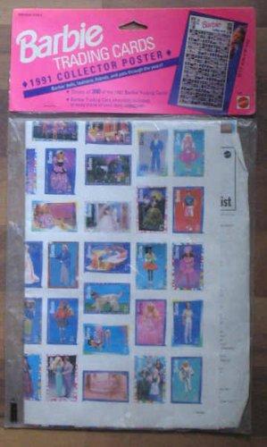 Mattel Barbie 1991 Trading Cards Poster NIP