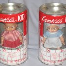 Horsman Campbells Kids Junior Series Dolls in Coin Bank Containers 1998 Mint
