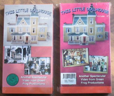 Miniature Dollhouse This Little Dollhouse Videos VHS Volume 1 & 2 Factory Sealed
