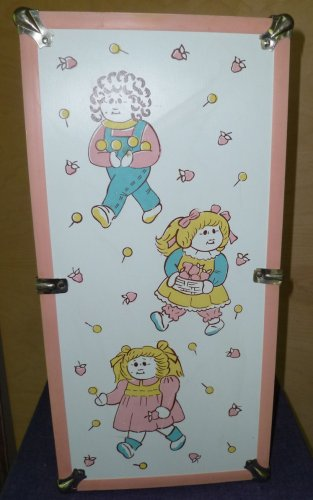 Vintage Large Cabbage Patch CPK Doll Case Wardrobe Pink and White