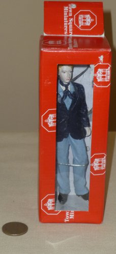 Dollhouse Miniature Resin Standing Young Man Figurine NIB