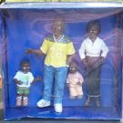 Resin Dollhouse Miniature Modern Black Family of Four 1:12 Scale