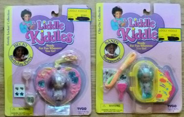 TYCO Liddle Kiddles Small Black Dolls Becky and Sandy 1994 NIP