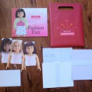 American Girl Fashion Show Paper Doll Kit with Book 3 Dolls More NIP