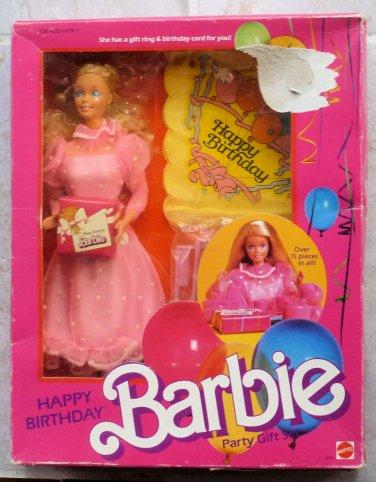 Vintage Happy Birthday Barbie Doll Party Gift Set 9519 Mattel 1984 NRFB